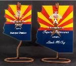 Hanging Arizona Award with Stand