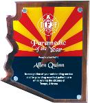 Arizona Walnut Plaque with Full-Color Acrylic Stand-Off