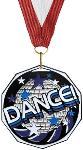 Dance Decagon Colored Medal
