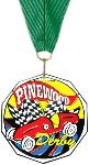 Pinewood Derby Decagon Colored Medal