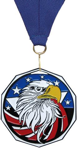 Eagle Decagon Colored Medal